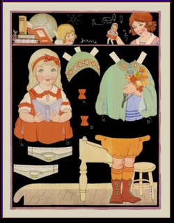 Berta and Elmer Hader paper dolls