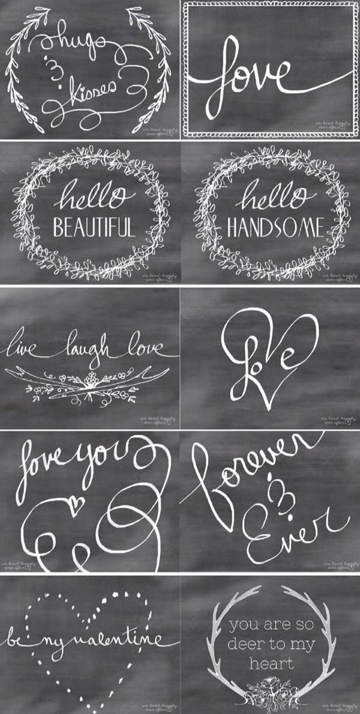60 best chalkboard sayings images on pinterest chalkboards free printables and printables for Chalkboard font ideas