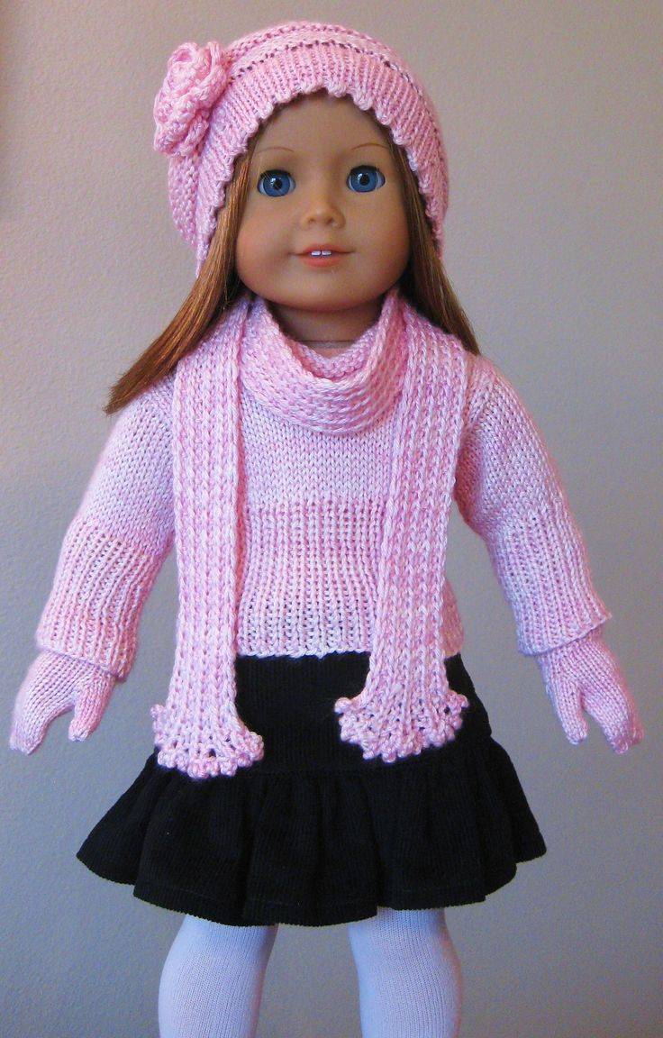 658 best doll/clothes - knit images on Pinterest | Free knitting ...