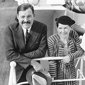 Ernest Hemingway, with wife Pauline Pfeiffer in 1934, showed suicidal tendencies early on.