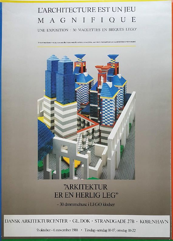 1988 LEGO Architecture Exhibition in Copenhagen Denmark