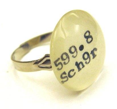 Dewey Decimal Ring, pretty sure I need this.