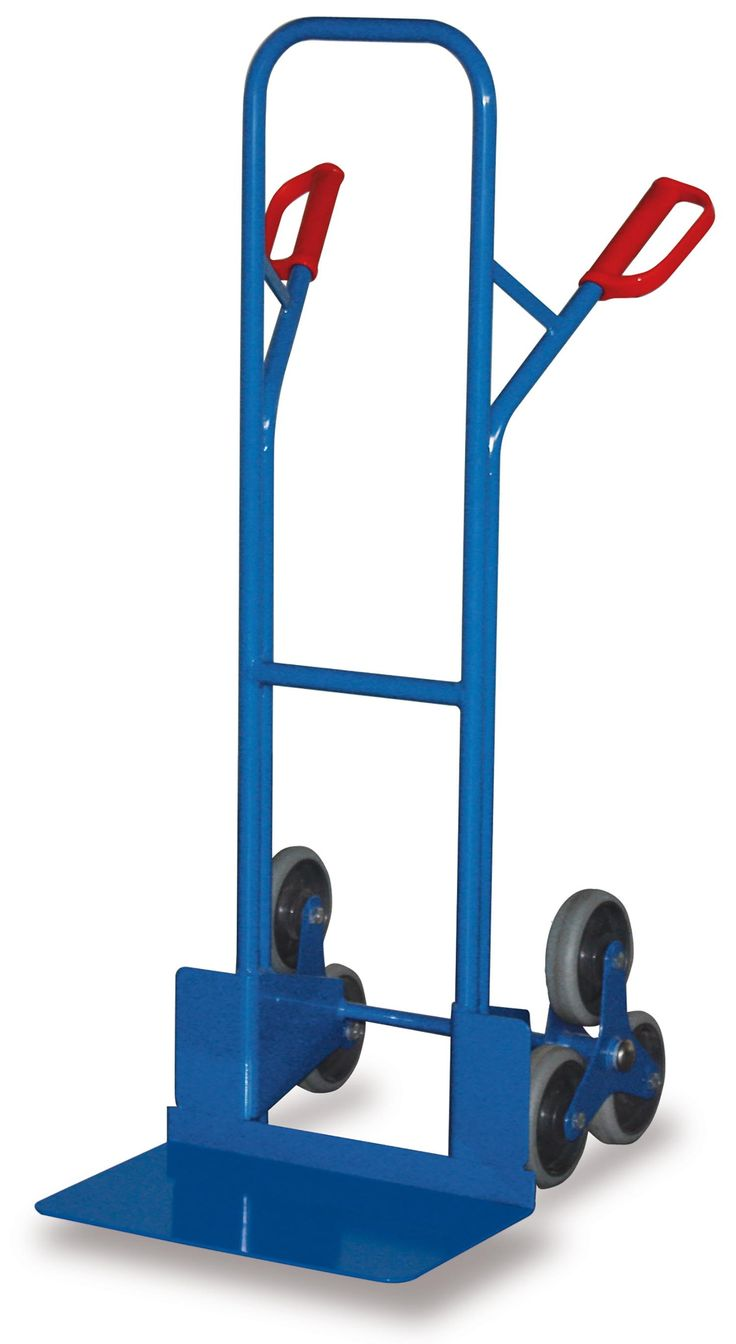 GTARDO.DE:  Treppenkarre mit 2 dreiarmigen Radsternen, 200 kg, Maße 574x676x1310 mm, Schaufel 480x300 mm, Rad 160x40 mm 149,00 €