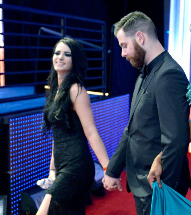 2015 WWE Hall of Fame red carpet couples