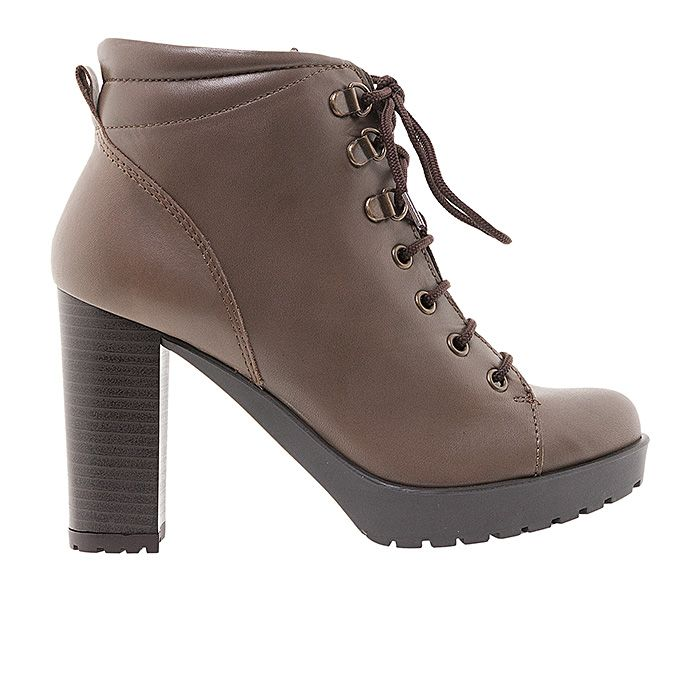 65101-TAUPE LEATHER #mourtzi #ankleboots #casual