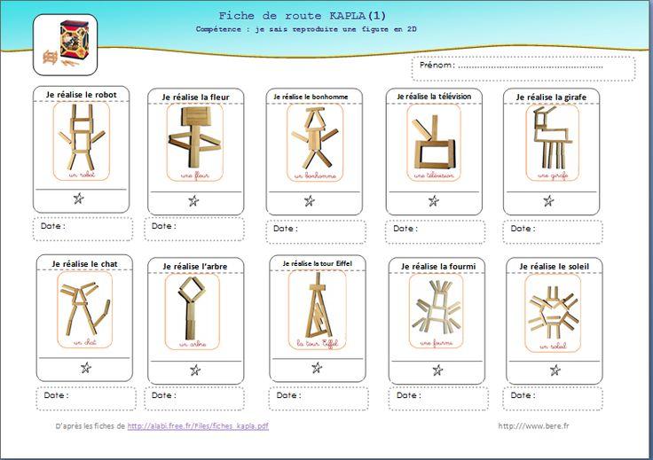 une version individuelle de suivi pour les fiches Kapla de la maternelle des loupiots