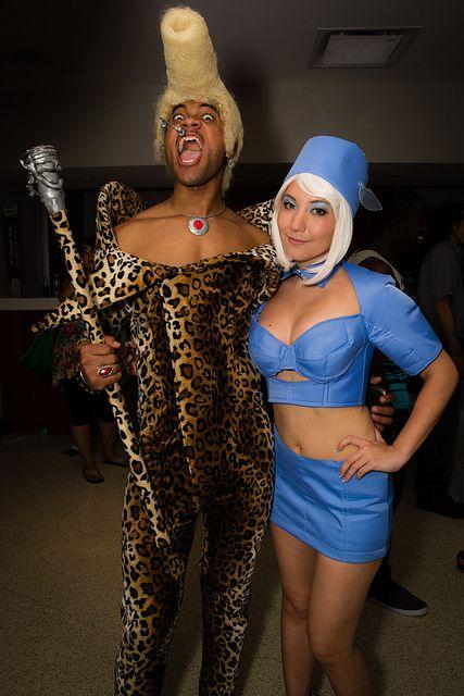Stewardess meets Ruby Rhod at Florida Supercon 2013 #cosplay
