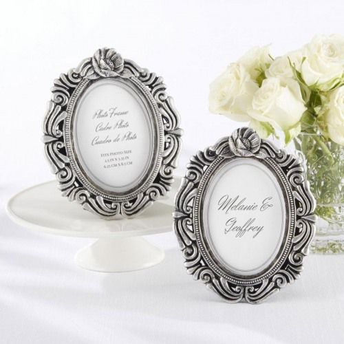 Antique Victorian Place Card Photo Frame