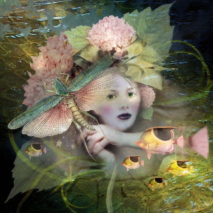 Libelle, Using The most beautyful materials - Designer Backgrounds - Reflected Touch - Damsel Lady 1. <3 . With Teddi Rutschman <3. http://shop.scrapbookgraphics.com/foxeysquirrel/ ©InaDigitalArt 2016