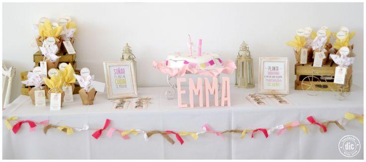 Bautismo y primer año Emma.