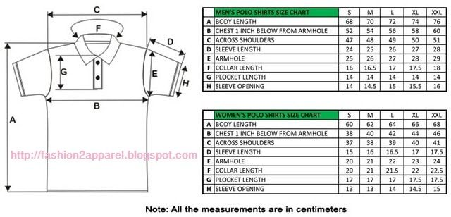 Step By Step Polo Shirt Measurement Process With Size Chart Mens