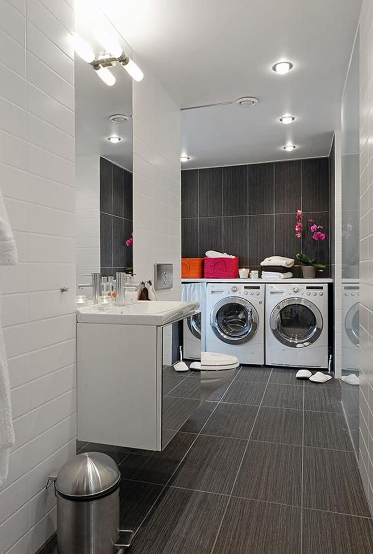 56 best laundry room ideas images on pinterest laundry for Modern apartment bathroom ideas