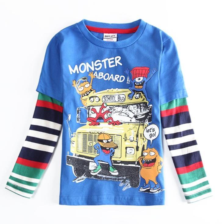 Дети Весна Осень футболки С Длинным Рукавом одежда детские Рубашки Мальчики Дети Одежда синий полосатый с длинным рукавом дети костюм enfant