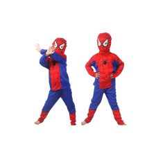 Spiderman costume for kids great as party dress, cosplay events, etc  * Brand New * Material: Thin fabric (a little bit stretchable)  * Pants: approx 74cm * Top: approx 44cm * Chest: approx 32cm * Sleeve: approx 36cm