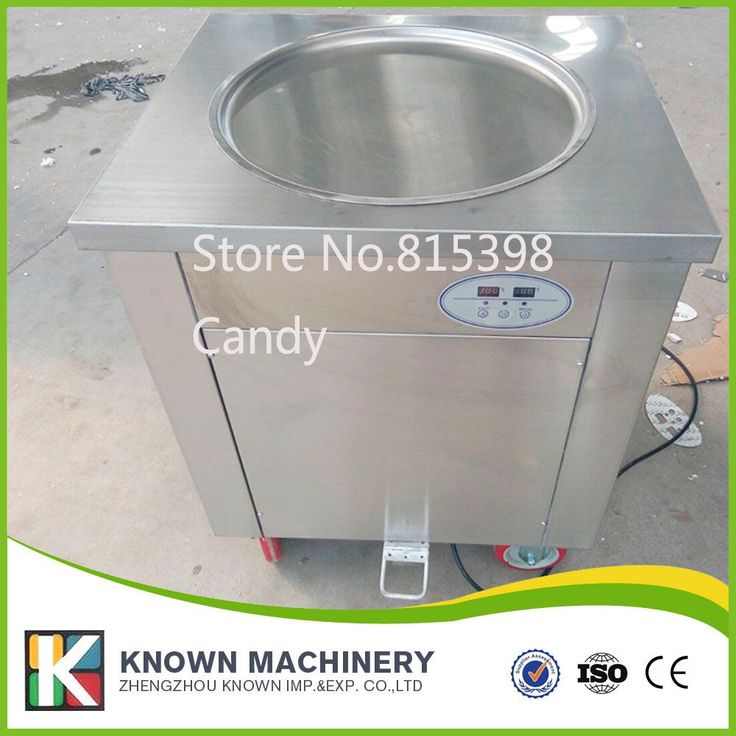 DHL free ship single pan fried ice cream machine with temperature control 45cm diameter fried ice cream roll machine,