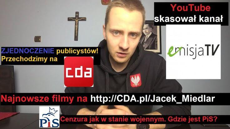 Cenzura jak w stanie wojennym. Gdzie jest PiS? Ostatni film na YouTube?!...