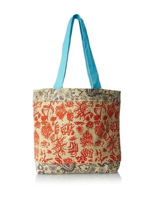 43% OFF amykathryn Gerbera Tote Bag, Yellow/Red Print