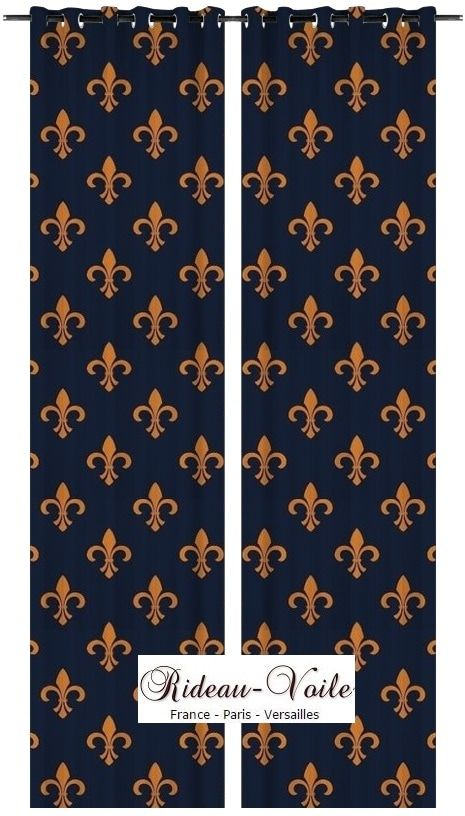 les 86 meilleures images du tableau rideau tissu style empire fleur de lys ameublement sur. Black Bedroom Furniture Sets. Home Design Ideas