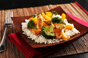 Sweet & Sour Chicken Stir-Fry Recipe - Kraft Recipes... This is a great dish!
