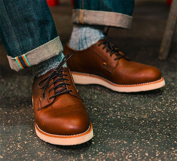 Red Wing Postman Oxford -- Designed for mailmen back in Red Wing's Postman  Oxford is made with Copper Rough & Tough leather and features a Goodyear  welt ...