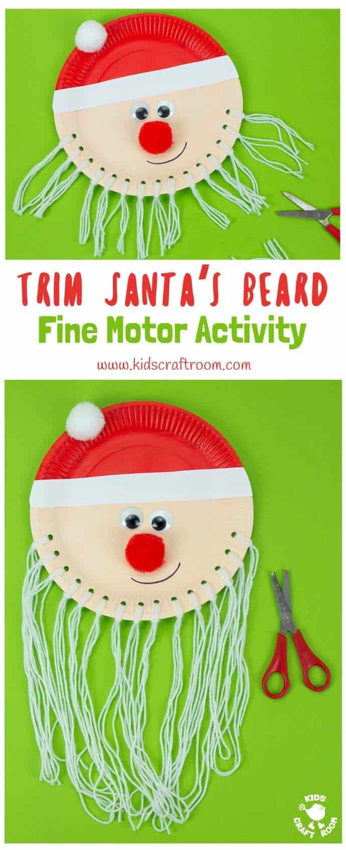 Are you looking for an educational Santa crafting idea that you can enjoy with your kids? #bastelidee #diyforchildren #of #herren