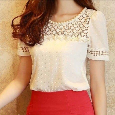 Blusa Elegante Decorada - Comprar em Raylim Modas