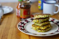 Corn, Zucchini and Chickpea Fritters - The Wednesday Chef