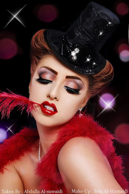 A Night At The Moulin Rouge by S.H Make-Up Artist, via Flickr  @Youngblood Mineral Cosmetics