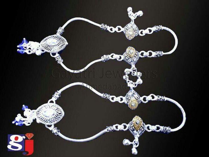 अनारकली पायल ! Trending fancy silver payal  #munnipayal #broochpayal #traditional #jewellery #anklets #gj