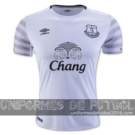 Venta de Jersey visitante para uniforme del Tailandia Everton 2015-16