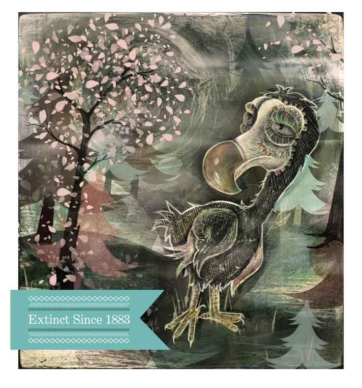 Extinct # 1 The Dodo - Kerri-Jane Mitchell iIlustrations