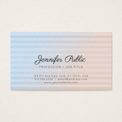 Professional Modern Stylish Sleek Plain Luxury Business Card - nursing nurse nurses medical diy cyo personalize gift idea