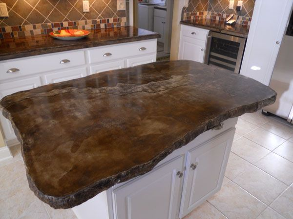 Concrete counter top - I love these raw edges... love the finish too (but I think I want more grey colors)