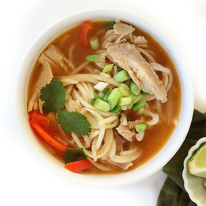Spicy Asian Chicken Turnip Noodle Soup