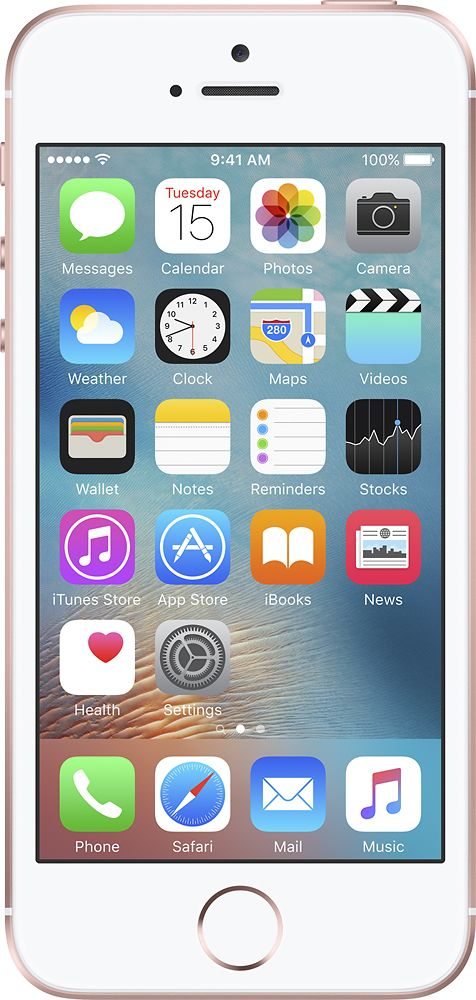 Apple - Geek Squad Refurbished iPhone SE with 16GB Memory Cell Phone - Rose gold (Sprint), GSRF-MLYA2LL/A