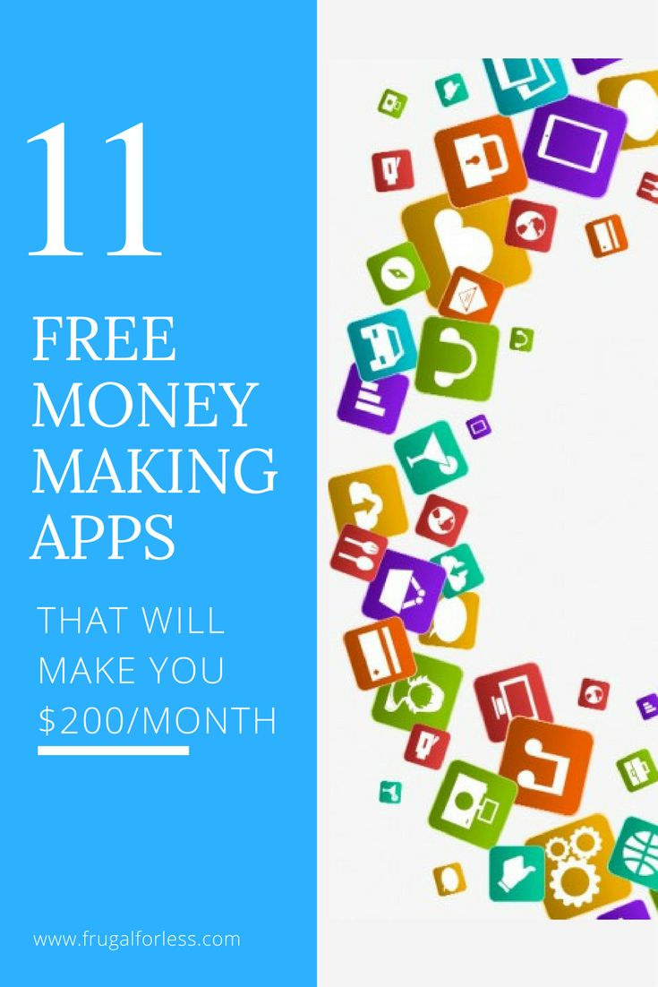 Here are 11 free money making apps that will help you make money online. Earn up to $200/month. Back when I was living a frugal life and not earning much money, these apps really helped me supplement my income. All of these money making apps are incredibly simple and don't take much time. They're great for making money on the go or in your spare time.