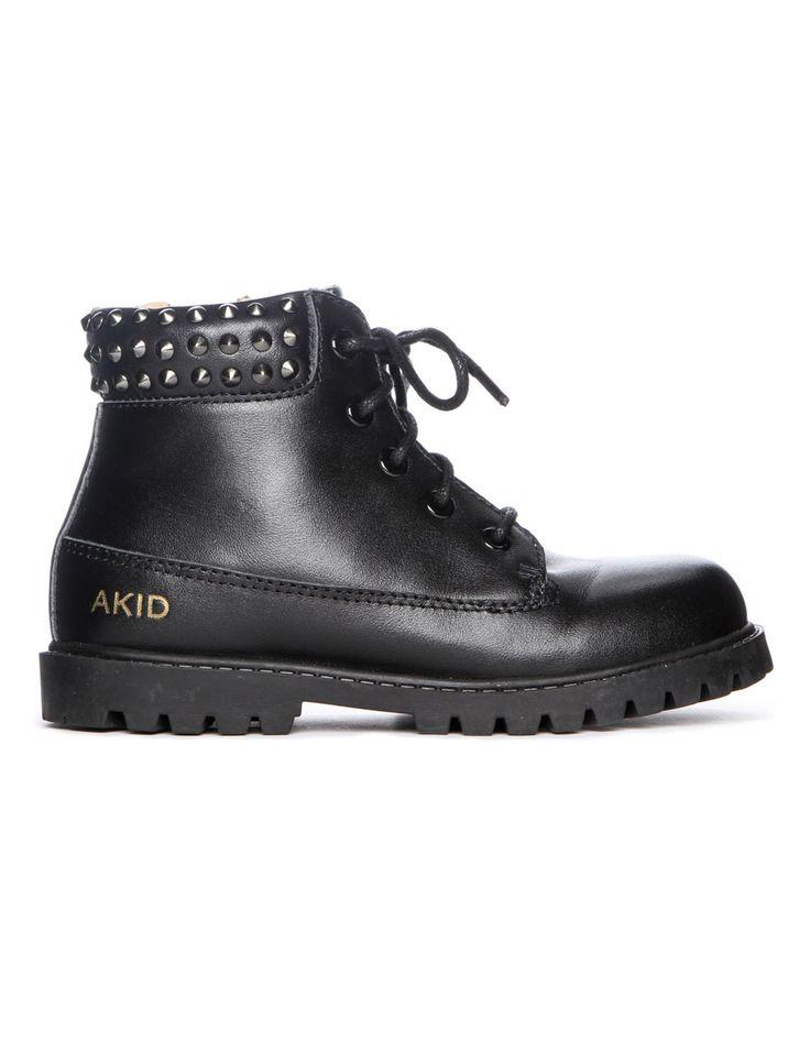 Akid Attticus Stud Boots Black | Accent Clothing