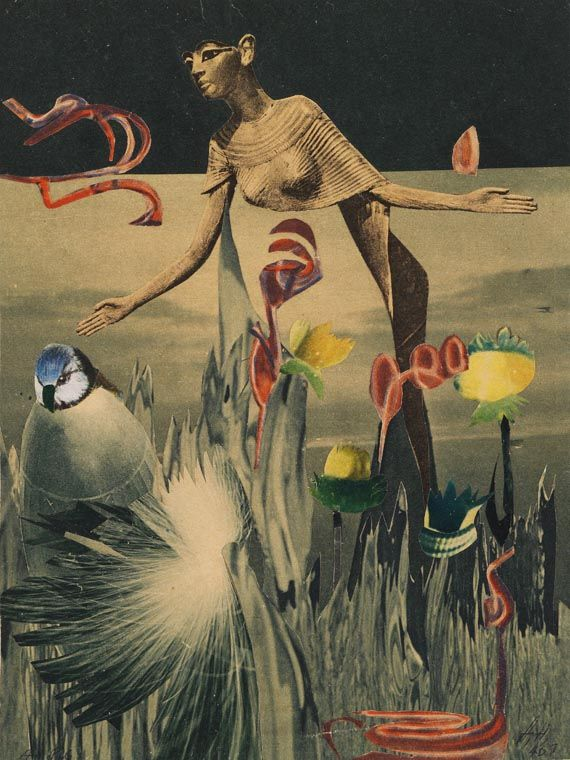 wineofwizardry:    Hannah Höch - Am Nil (Collage, 1940)