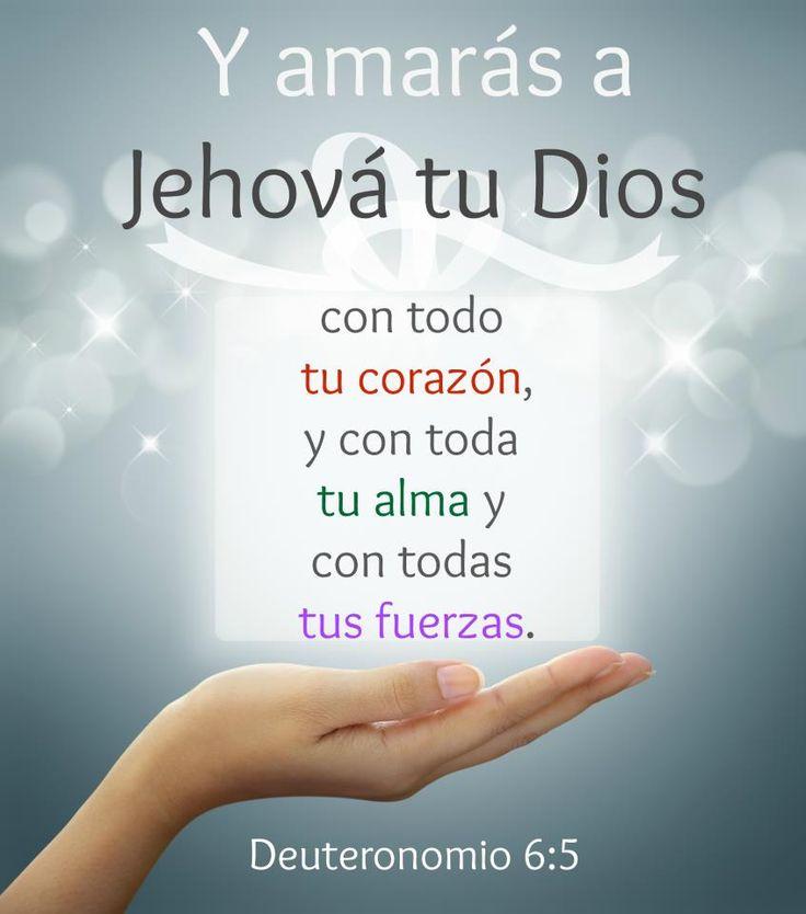 """""""Tienes que amar a Jehová tu Dios con todo tu corazón y con toda tu alma y con toda tu fuerza vital."""" Deuteronomio 6:5"""