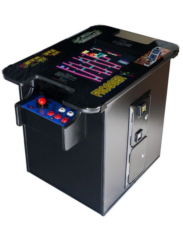 NEW PROFESSIONAL ARCADE VIDEO GAME COCKTAIL TABLE MACHINE PLAYS 1980's GAMES BLACK