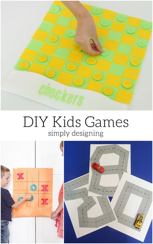 DIY Kids Games.  Simple kids activities that even your kids can make!