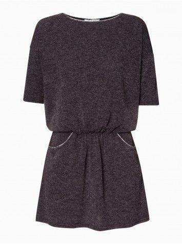 Robe Ceinturée Avec Col Rond Et Manches 3 4 N By Naf Naf - La Halle