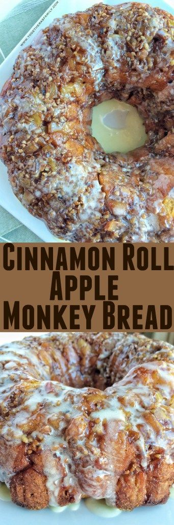 Cinnamon Roll Apple Monkey Bread - Together as Family