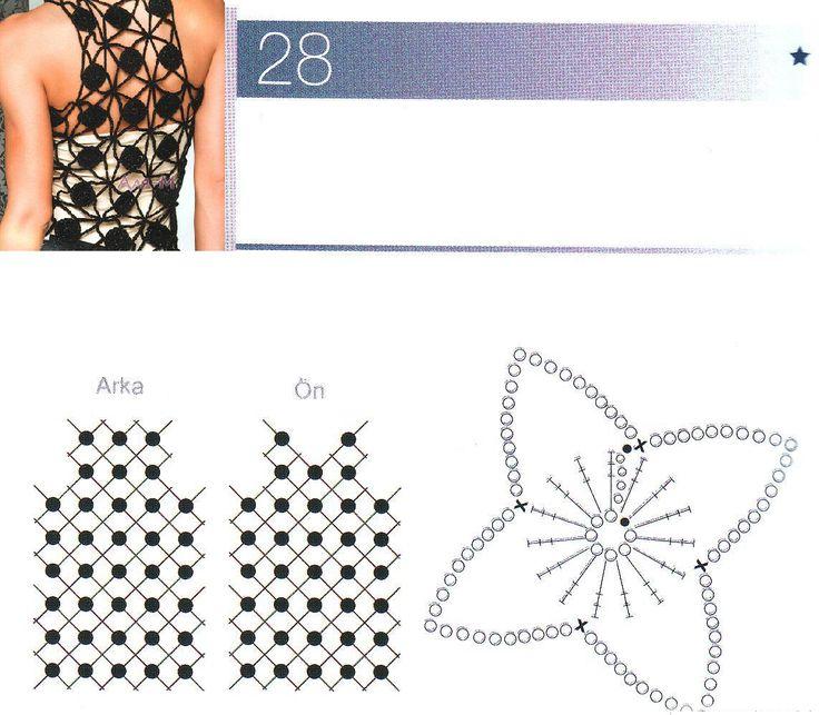 Patrones para Crochet: Top Circulos y Cadenetas de Crochet