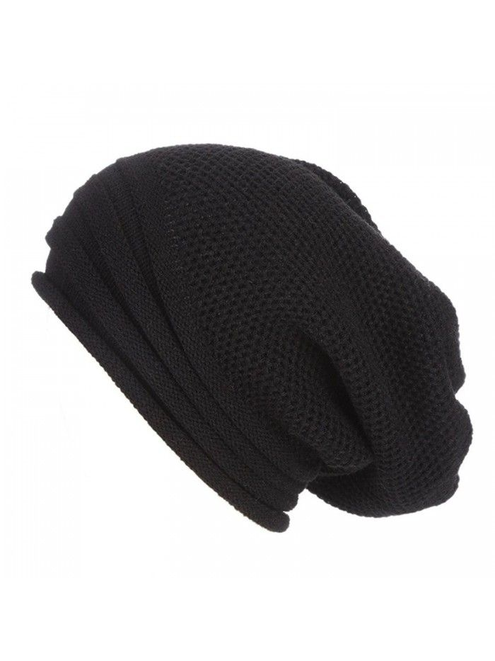 4b34069a1f2 Womens Hat Winter- Unisex Warm Chunky Stretch Cable Knit Slouchy Baggy  Beanie Hat Skull Cap
