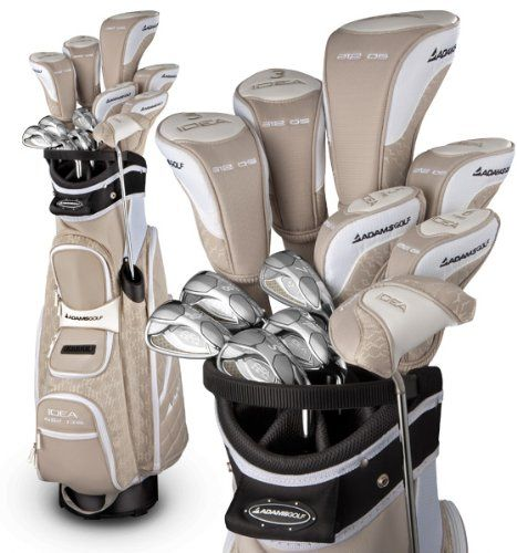 Adams Ladies Golf Idea A12OS Sandstone Integrated Set (Right-Hand, Ultralite Graphite, Ladies Flex), This premium set of clubs is designed specifically for women and includes everything you need for the course. Featuring the award winning Idea a12 OS Hybrid Irons Gold Medal winner for Super Game ..., #Sporting Goods, #Complete Sets