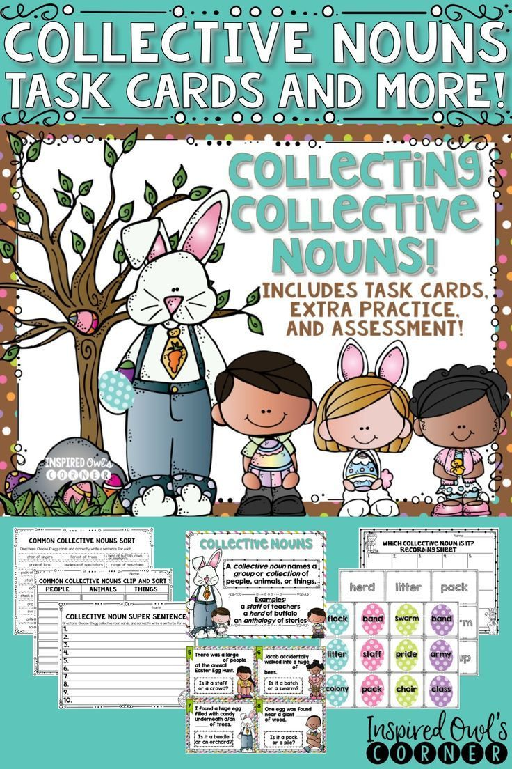 Collective Nouns Task Cards and More | Grammar Ideas | Pinterest ...