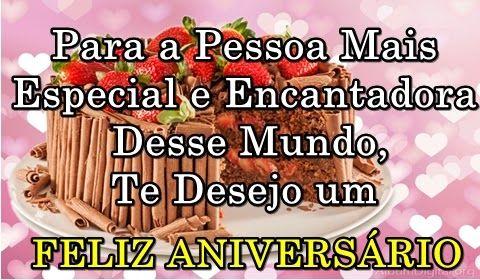 Mensagem de aniversário para amiga:Para a pessoa mais especial e encantadora desse mundo te desejo um feliz aniversário.