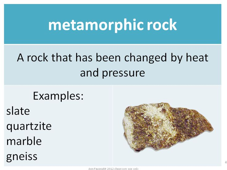 Metamorphic Rock...grade 5 rock cycle