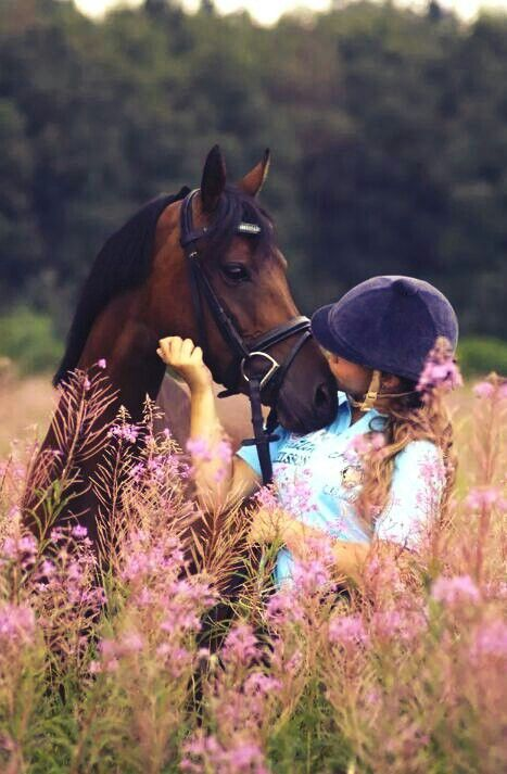 The love between horse and rider is..... just amazing ♡